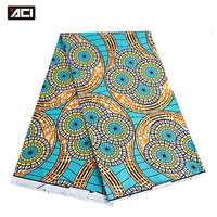 ACI Veritable Wax Hollandais African Ankara Fabric 6 Yards Piece Veritable Super Wax Hollandais African Fabric