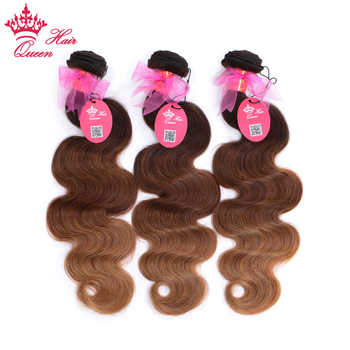 Queen Hair Products Ombre Brazilian Hair Body Wave #2/6/27 Human Hair Weave Bundles Deal 3 Bundles 3 Tone Remy Hair Extensions - DISCOUNT ITEM  48% OFF All Category