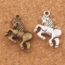 Unicorn Spacer Charm Beads 20x16mm 100pcs Antique Silver/Bronze Pendants Alloy Handmade Jewelry DIY L094