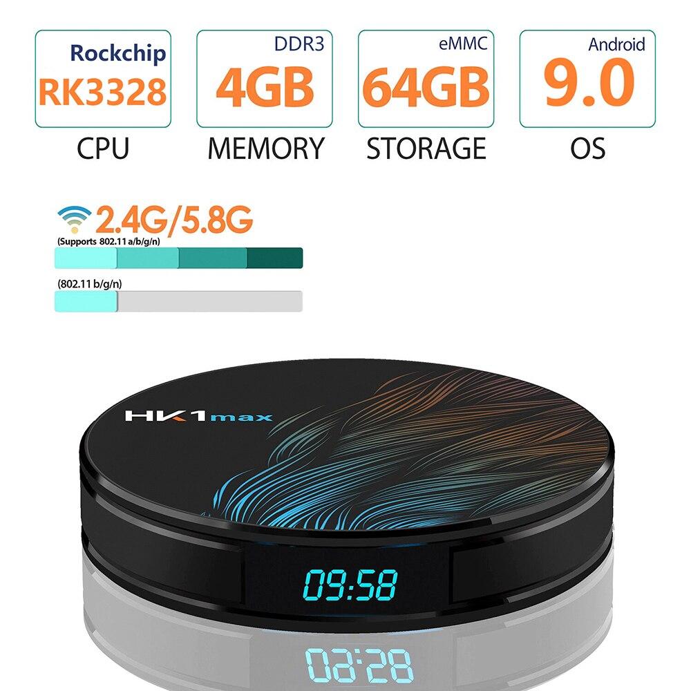 Android Box 9.0 TV BOX lecteur réseau RK3328 4G + 64G + BT + double bande Wifi 4 k Wifi récepteur numérique multimédia