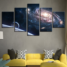 Modern Art Pictures Frame For Modular Wall 5 Panel Starry Sky Landscape Living Room Home Decor Canvas Prints Painting