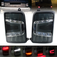 LED Rear Lights tail light For Lada Niva 4X4 1995 2PCS Black With Running Turn Signal Car Styling Accessories
