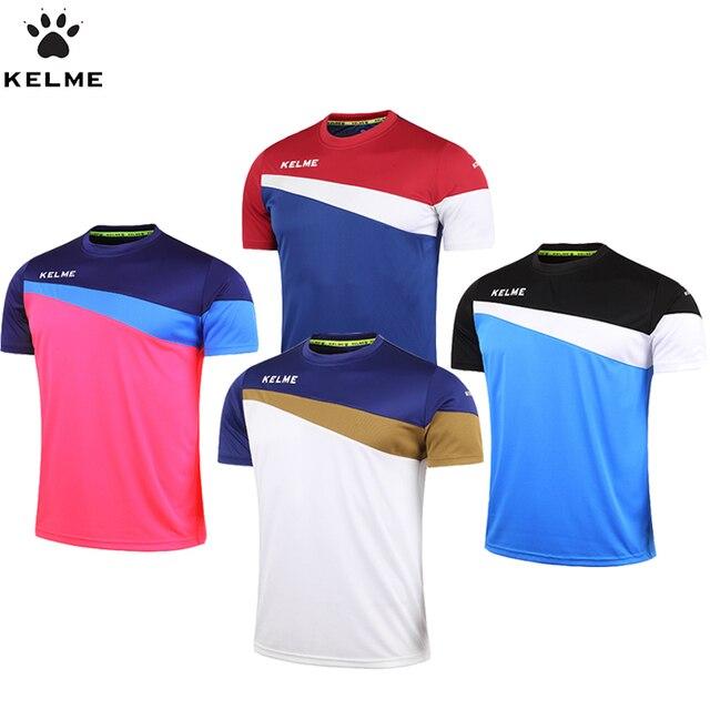 KELME Oficial Autêntico Espanha Camisa De Futebol Dos Homens de Manga Curta  Camisas De Futebol Survetement 79c6e8f54b937