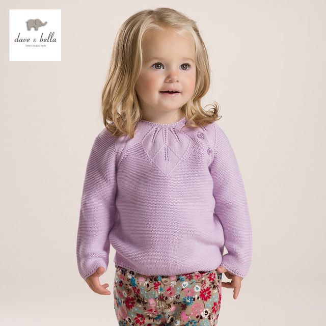 DB2736 dave bella  autumn fashion  sweaters baby  clothes infant sweaters baby girl 100%cotton  sweater girls sweaters