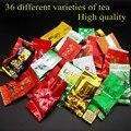 36 diferentes sabores de té Chino de la pu er té Dahongpao, té Oolong, Tieguanyin, té de Yunnan Puer, blanco/negro/verde té Oolong de la Leche