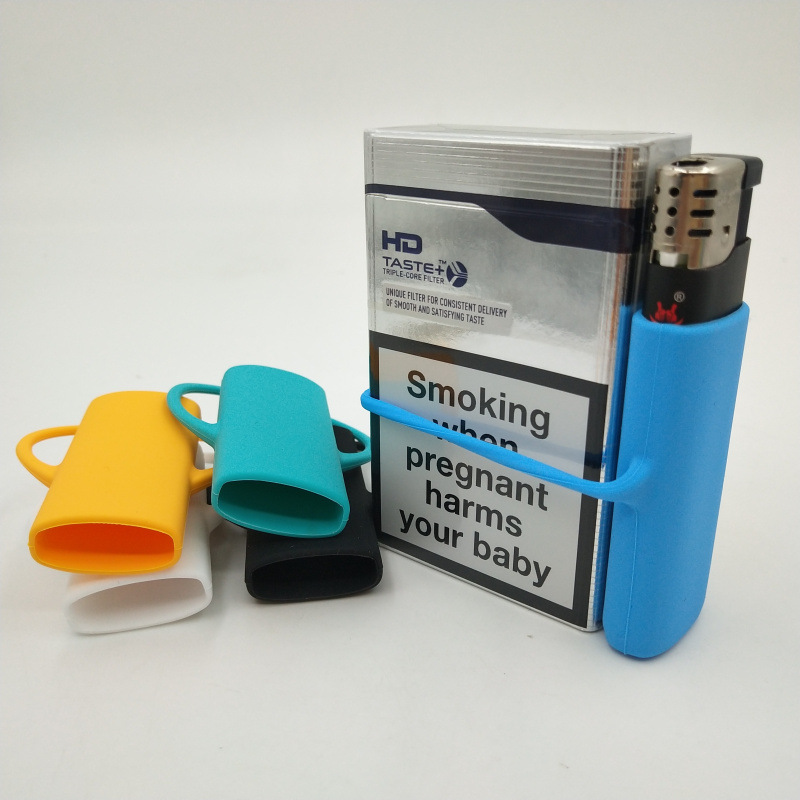 5pcs/lot 2019 New Lighter <font><b>Case</b></font> Set Silicone Lighter Sleeves Wrap Around <font><b>Tobacco</b></font> Pouch & Cigarette <font><b>Case</b></font> Fits Most Lighters Holder image