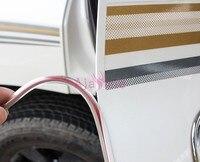충돌 배리어 리어 트렁크 도어 몰딩 줄무늬 화이트 컬러 범퍼 도요타 랜드 크루저 LC 200 100 FJ100 FJ200 액세서리