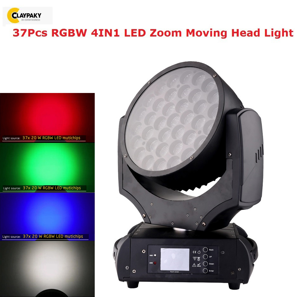 Professional Stage Light 37X20W RGBW 4IN1 LED Zoom Moving Head Light RDM Function Support Dj Equipment LED Dj Lighting Effect Professional Stage Light 37X20W RGBW 4IN1 LED Zoom Moving Head Light RDM Function Support Dj Equipment LED Dj Lighting Effect