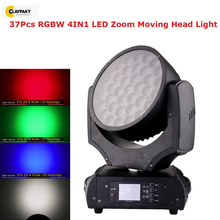 Professional Stage Light 37X20W RGBW 4IN1 LED Zoom Moving Head RDM Function Support Dj Equipment Lighting Effect
