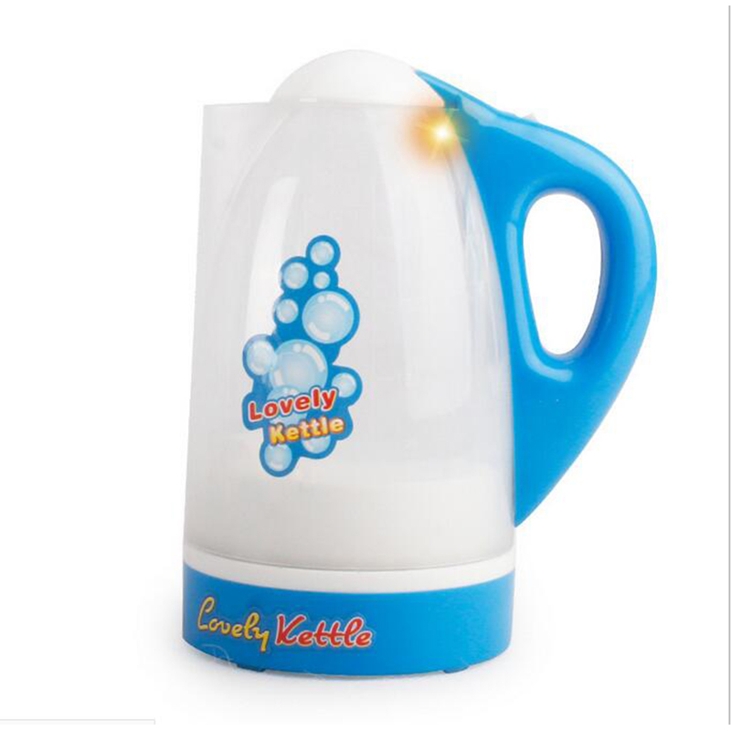Blue Kettle Models Educational Toys Children Play House Toys Home Appliance Simulation Tableware Kettles Gifts