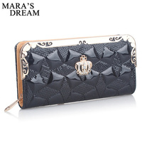 Mara S Dream 2017 New Women Wallet High Quality Rhinestones Crown Wallet Women Luxury Brand Fashion