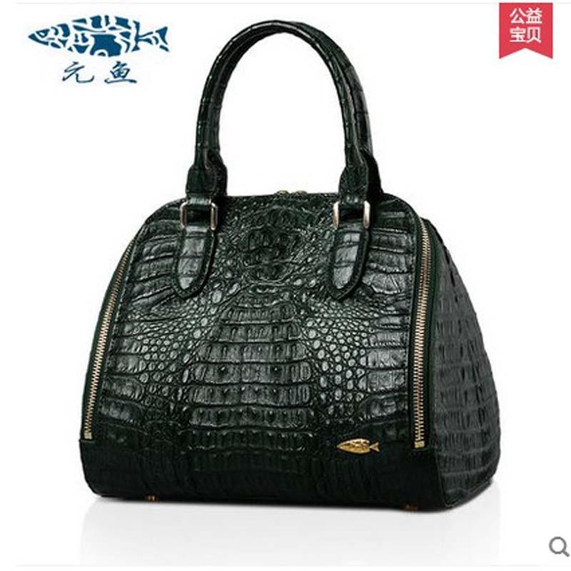 yuanyu Europe United States  new  real crocodile shell bag women handbag female bag large capacity  bag women handbag