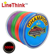 500M GHAMPION LineThink Brand 8Strands/8Weave Best Quality Multifilament PE Braided Fishing Line Fishing Braid  Free Shipping
