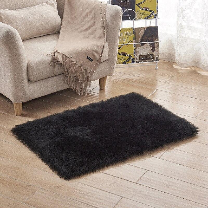 100*180 см мягкий искусственный коврик из овчины покрытие стула коврик для спальни искусственная шерсть Теплый Ковер с длинным ворсом сиденье Textil меховые коврики - Цвет: 13