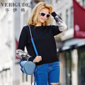 Veri Gude New Arrival Women's Knitted Sweater Sequined Sleeve Fashion Pullover One Size