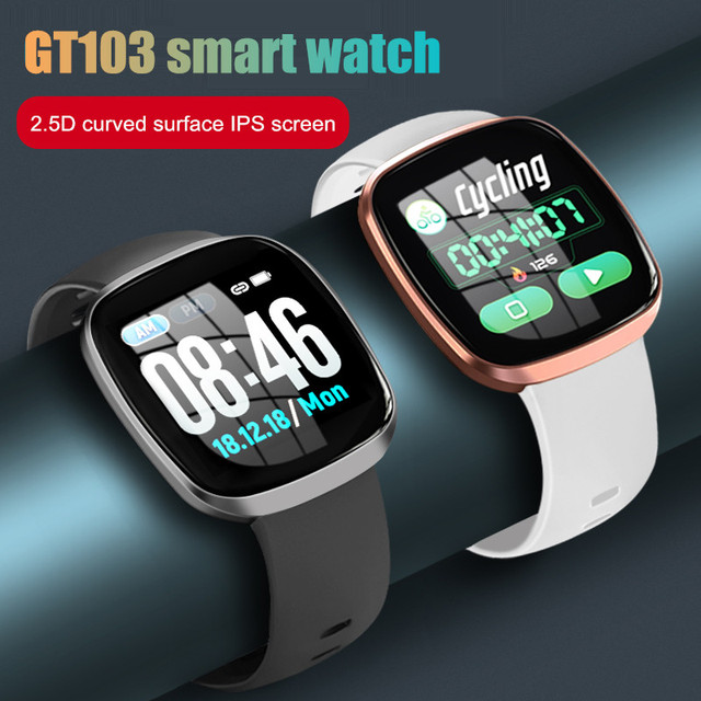 Letike GT103 smart watch Oversized 1.3″ IPS color touch LCD screen 2.5D curved surface glass Fitness waterproof sport Swim watch