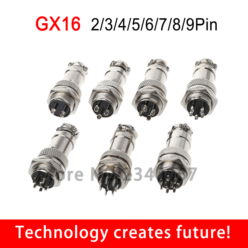 10 Set 16mm 9 Pin Aviation Plug Male /& Female Wire Panel Metal Connectors GX16-9