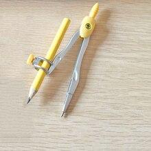 1 коробка, циркуль для рисования, металлический компас с карандашом, канцелярские принадлежности, мультяшный Компас для влюбленных пар, школьные принадлежности для черчения, канцелярские принадлежности