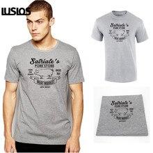 LUS LOS Satriales Pork Store funny mob mafia sopranos new costume vintage retro humor tee Apparel Clothing Mens T-shirt
