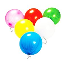 METABLE 50 Pack Punch Balloons | Mega Bulk of Neon Assorted Color that Measure 10 Inches.