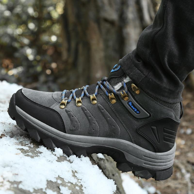 2018 Outdoor Boots Men Work Shoes Ankle Boots Men'S Winter Shoes Non Slip Wear Resistant Men'S High Quality Sneaker Travel Shoes