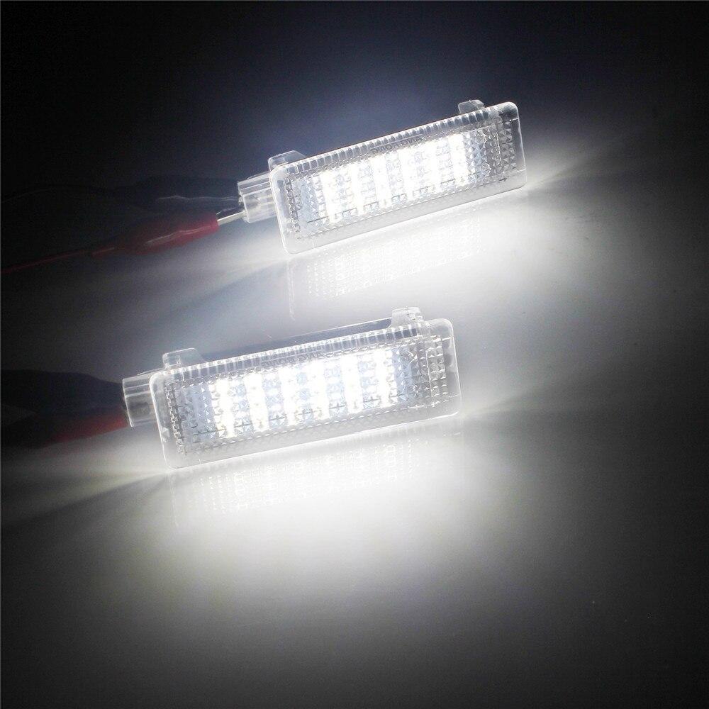 BMW E81 E87 E63 E90 E91 E92 White Canbus LED Footwell Door Courtesy Trunk Light
