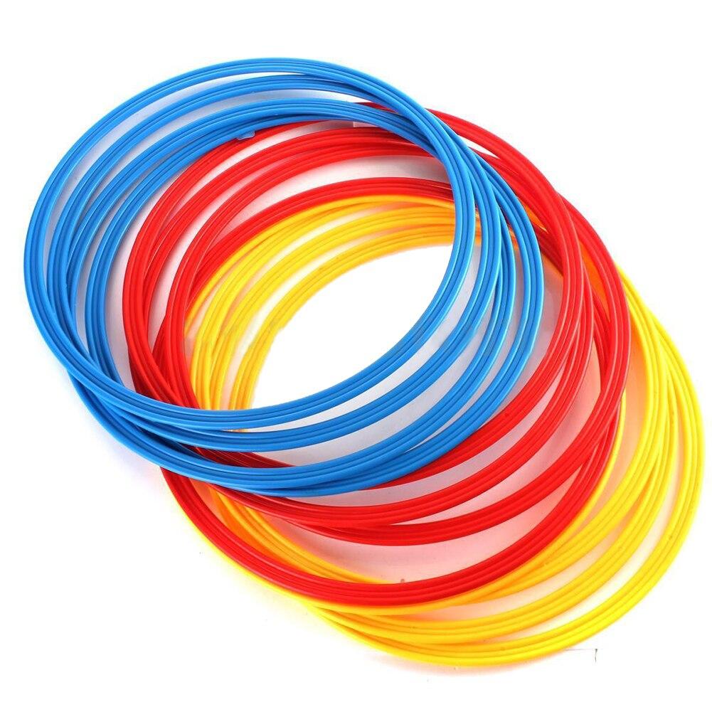 12 pièces Multicolore Innovations Vitesse et Agilité Anneaux D'entraînement De Football