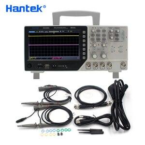 Image 1 - Hantek osciloscópio dso4202c 2 canais 200 mhz usb osciloscopio + arbitrário/função forma de onda gerador 1gsa/s taxa de amostra