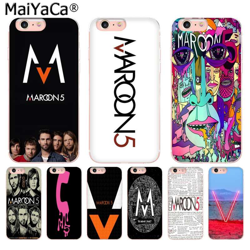 MaiYaCa maroon 5 Unique Design Newest The Fashion phone Case for iPhone 8 7 6 6S Plus X 10 5 5S SE 5C 4 4S Coque Shell ...
