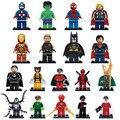 18 unids/lote Mini Winter soldier Batman Odin Venom Cyclops Marvel Super heroes Avengers figuras Building Blocks Legoe Compatible