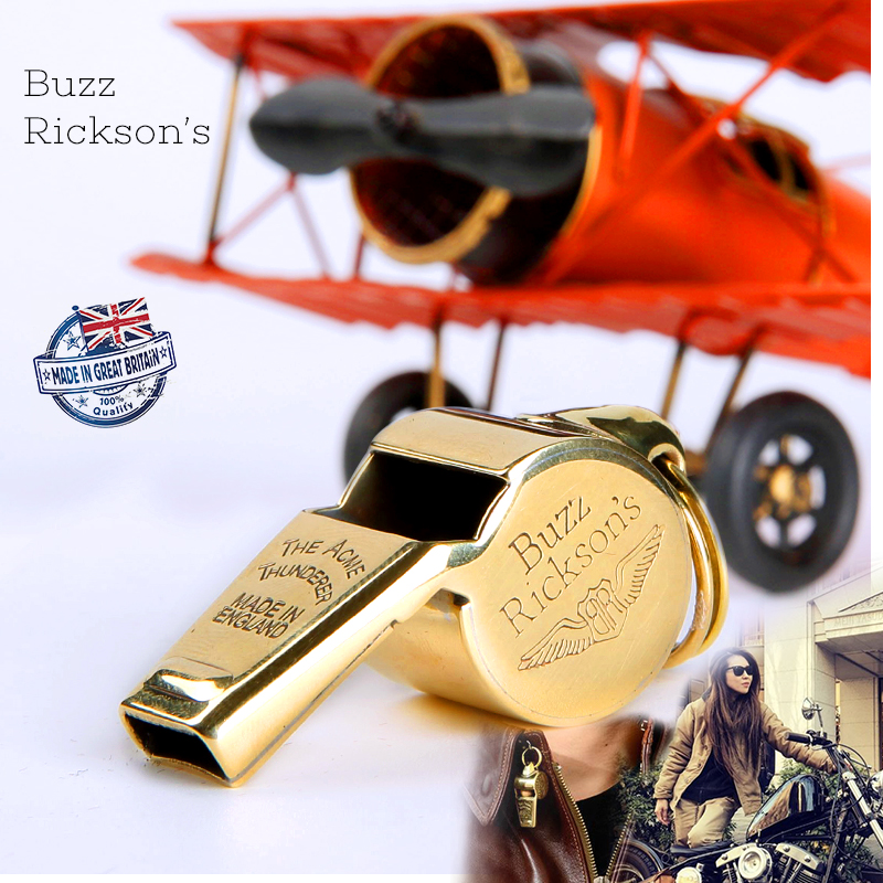 British Original Import Brass Flight Whistle Buzz Rickson's World War II Reenactment Of The Air Force Whistle