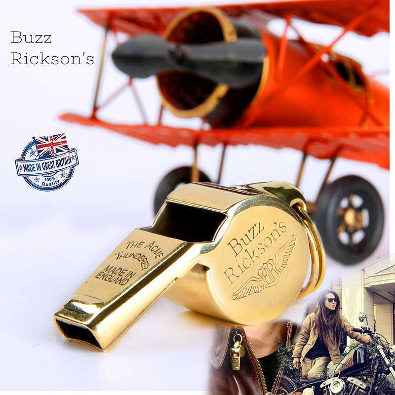 Brytyjski oryginalny import mosiężny gwizdek lotu Buzz ricksona II wojna światowa rekonstrukcja gwizdka sił powietrznych