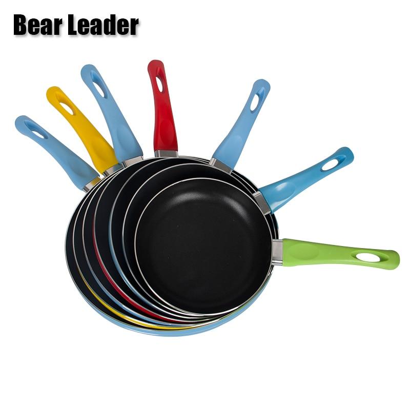 Bear Leader 18cm 20cm 22cm 24cm 26cm Pans Non-Stick Without Pot Cover Gas Cooker High Quality Pans
