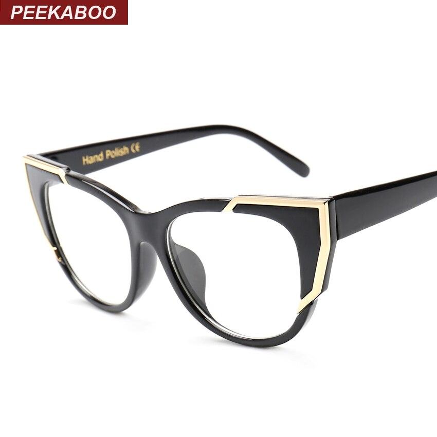 ▽Peekaboo marca diseñador ojo gafas marcos para las mujeres gato ...