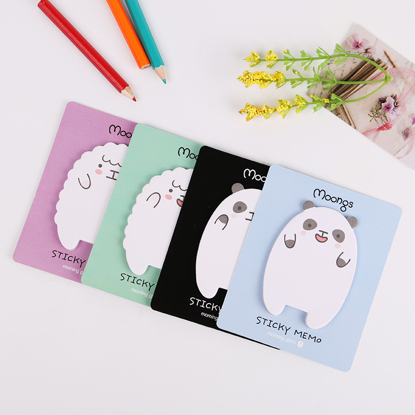 1PC Cute Animal Sheep Mini Stickers Korean Stationery Sticky Notes Post Note Kawaii for Diary Things Memo Pad