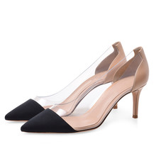 Hot Selling PVC+ Leather Women Wedding Pumps Black Red Pointed Toe High Heel Shoes For Woman Big Size 34-46 TL-A0075 high qulity african woman high heel shoes and bags set hot selling italian pumps shoes and bag set for wedding mm1035