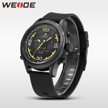 WEIDE luxury brand genuine sport watch Silicone quartz watches water resistant analog camping digital clock business men watch new arrival weide luxury brand sport watches for men analog led digital 3atm water resistant leather strap men watches