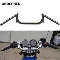 Universal Black Motorcycle Bike Adjustable Rotatable Handlebar Wide 7 8 22mm Bars Euro Style Cafe Racer