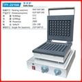 110 В 220 В Коммерческая электрическая вафельница машина антипригарная нержавеющая сталь квадратная машина для булочек  вафель машина для вып...