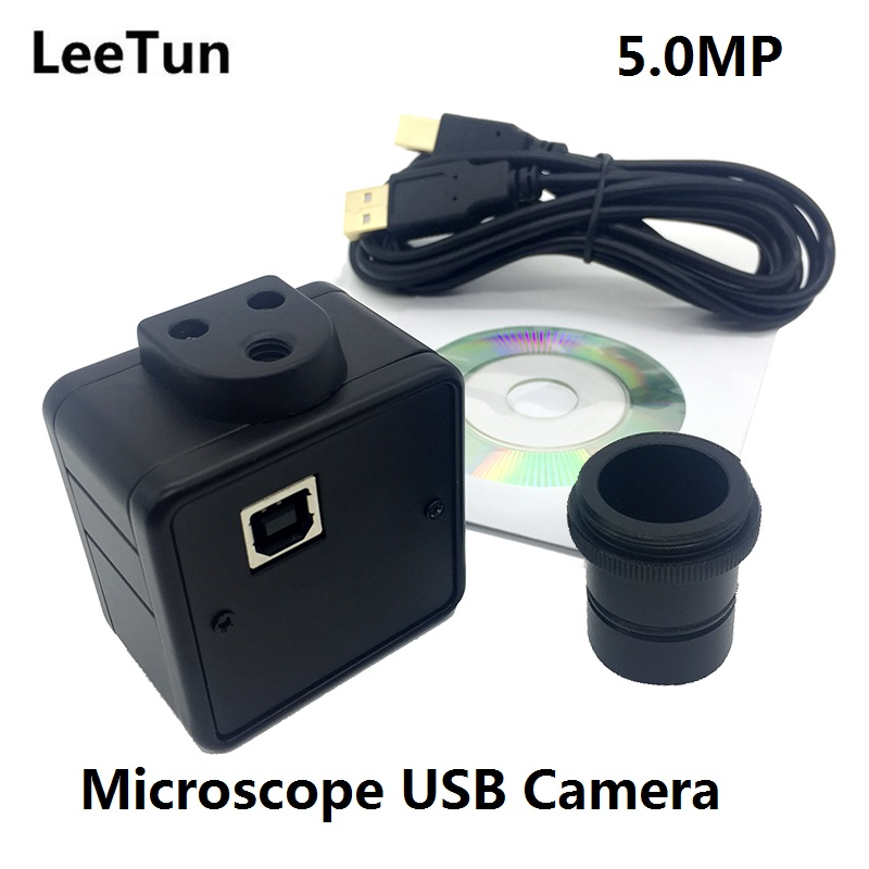 LeeTun 5MP Microscope Electronic Eyepiece USB Video CMOS Camera Industrial Digital Image Capture 5 Megapixel High Resolution цена