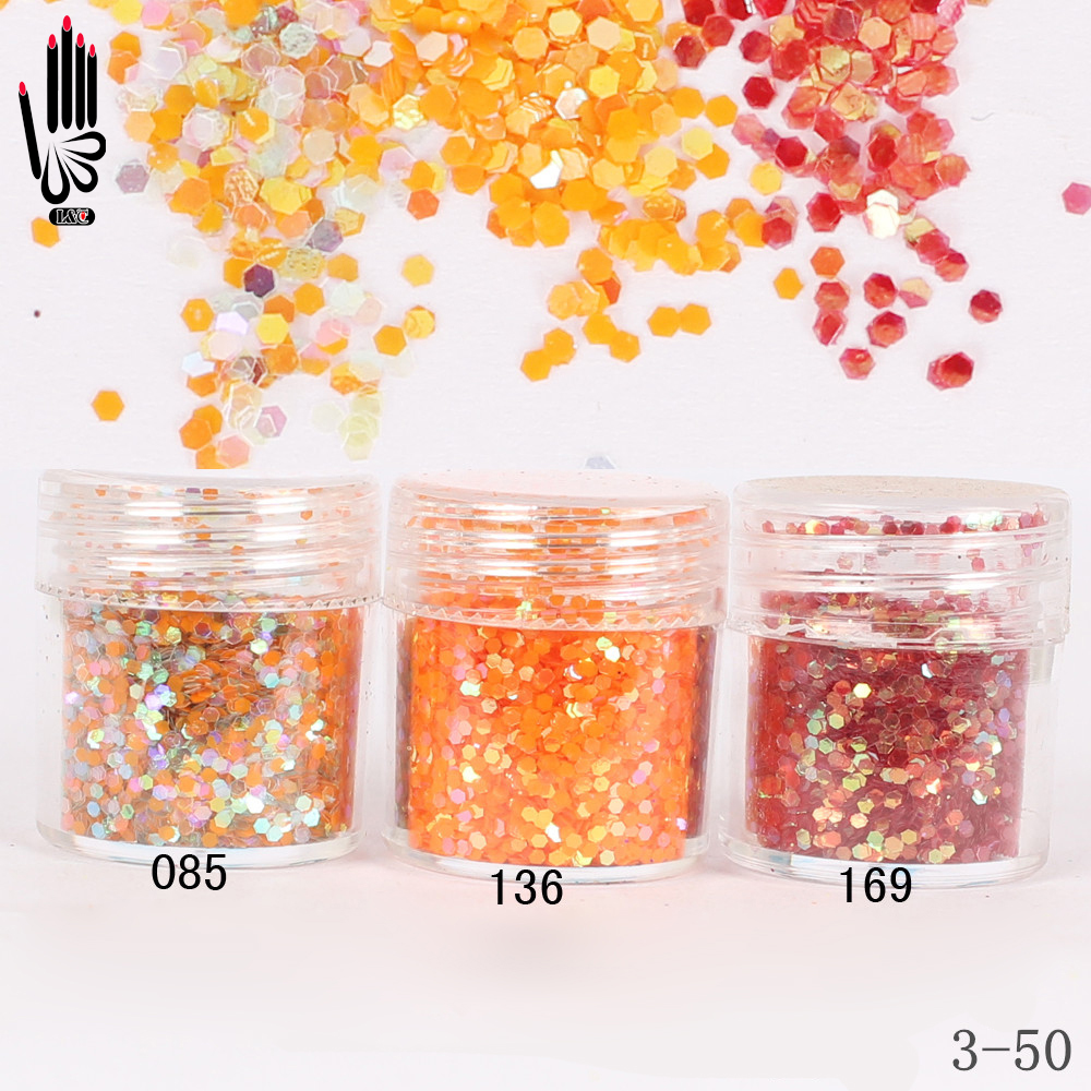 Schönheit & Gesundheit KüHn 1 Glas/box 10 Ml 3 Honig Orange Rot Farbe Nagel Glitter Hex Pailletten Pulver Papier Für Nail Art Dekoration Optional 300 Farben 3-50 Der Preis Bleibt Stabil