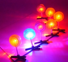 20pcs/lot Glowing Funny Lolipop Kids Party Costume Headdress Light-up Hairpin Hair Clip Birthday Decor Girl Take Home Favor