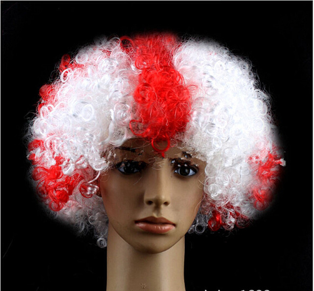 England flag color Wig Synthetic Hair w Wig Cap Cosplay Costume Party  Halloween Wig For Men and Women 5pcs lot 4dffbf866