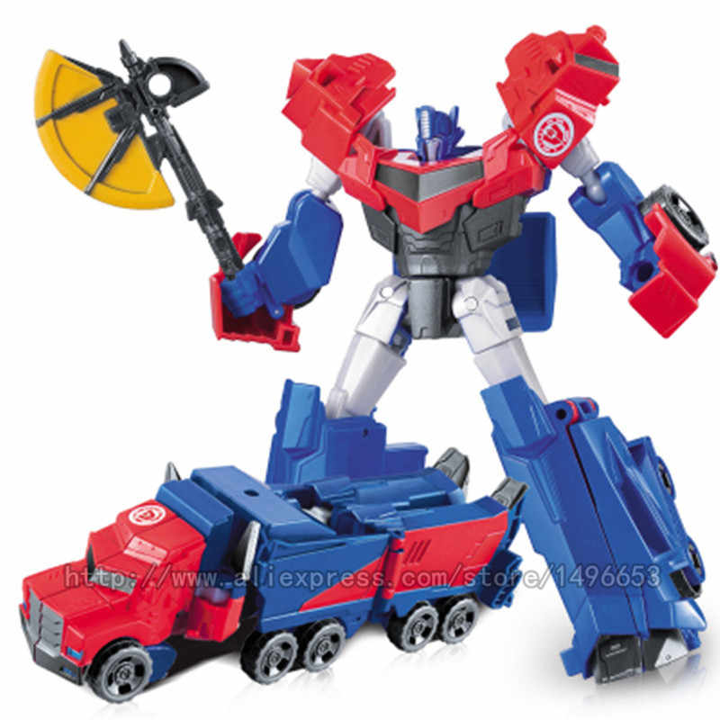 WEI JIANG New Red Transformation Toys Boy Cool Movie 5 Robots Car Model  Anime Action Figures Dinosaur Alloy Classic Kid Toy gift