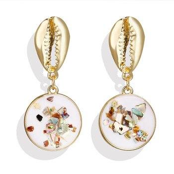 Geometric Shell Earrings For Women Earrings Jewelry Women Jewelry Metal Color: CS1907050920