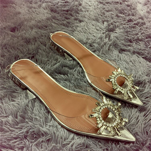 Image 5 - Peep Toe Women Pumps Summer Transparent Pvc Party Crystal Shoes High Heels Clear Elegant Ladies Sandals tacones mujer Size 34 40