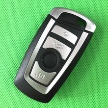 1 шт./лот 4 Кнопки Smart key Card Case Дистанционного Ключа Shell Пригодный для BMW 5 7 Серии Автомобилей Сигнализация Жилья Автозапуск Fob крышка