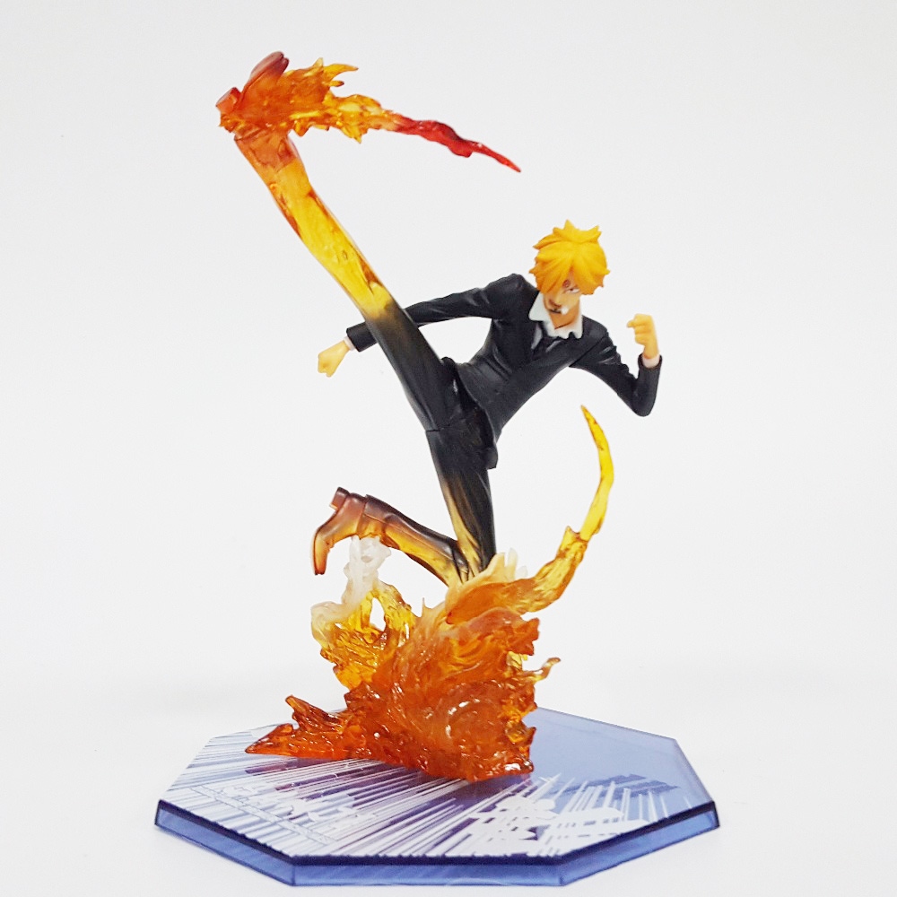 Tobyfancy One Piece Sanji Figuarts Zero Fire Foot PVC Action Figure Onepiece Collectible Model Toy 16CM