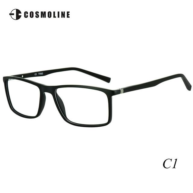 Cosmoline Brand New Designer Glasses Frame for Men Ultra Light TR90 Frames Men's Optical Frames Wooden Finish Frame 488