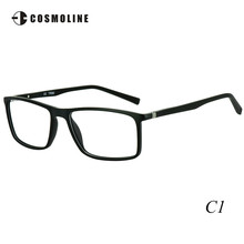 Cosmoline Brand New Designer Glasses Frame for Men Ultra Light TR90 Frames Men's Optical Frames Wooden Finish Frame 488